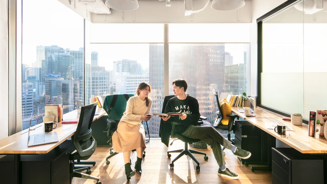 4 person office in Seoul, South Korea