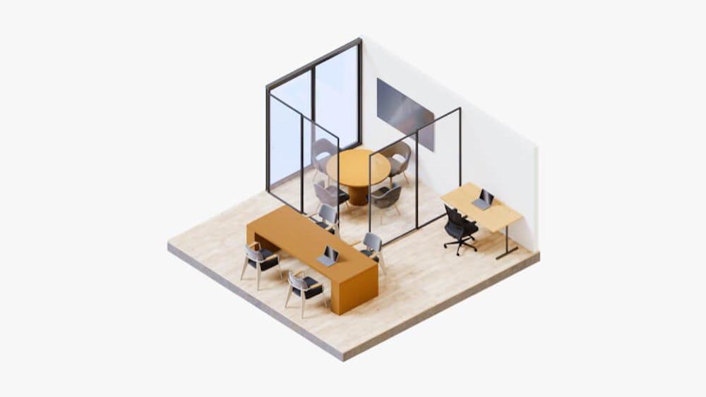 مكان عمل Vanilla - جناح مكتبي
