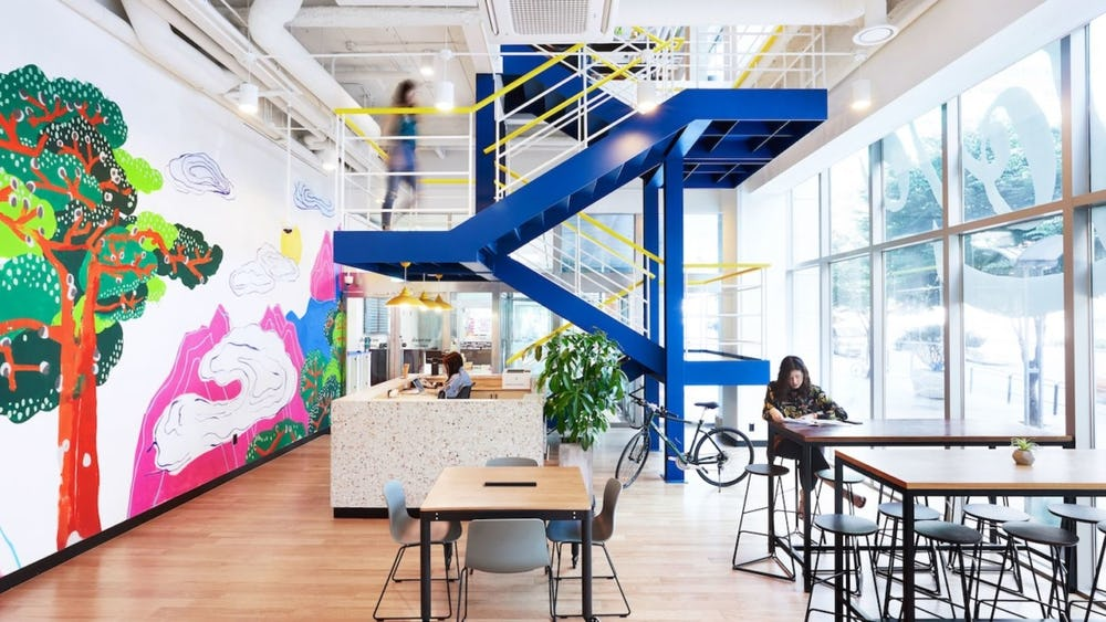 WeWork Seolleung in Seoul, South Korea