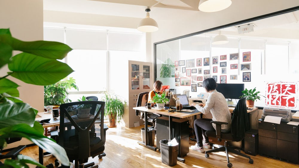 6 person office in Beijing, China