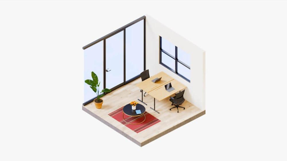 Vanilla Workspace - Standard Private Office